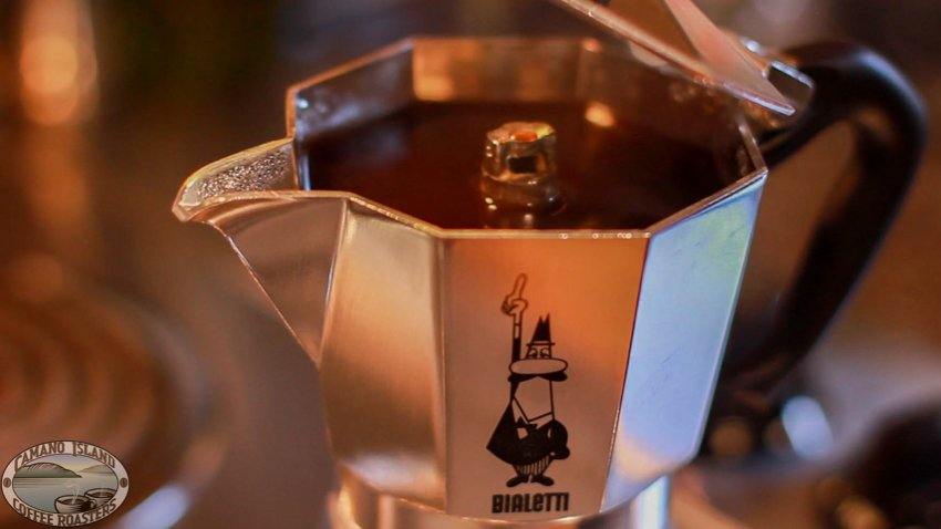 enjoy moka pot organic coffee