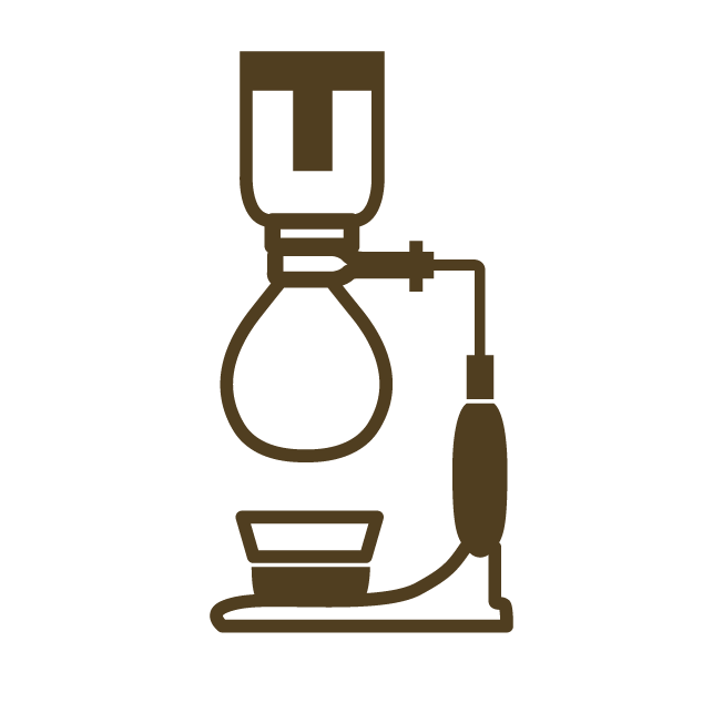 syphon organic coffee brewing